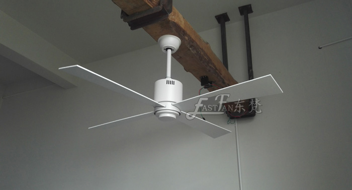 4 blade white ceiling fan without light