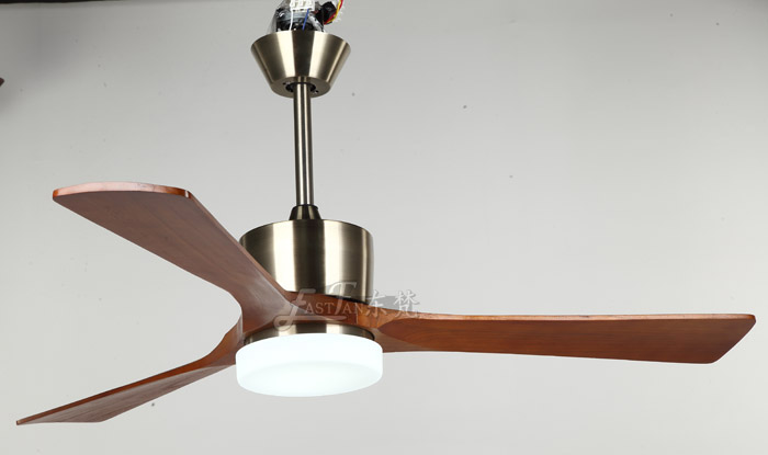 modern natural wood ceiling fan with light
