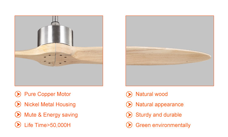 large contemporary ceiling fans with natural wood