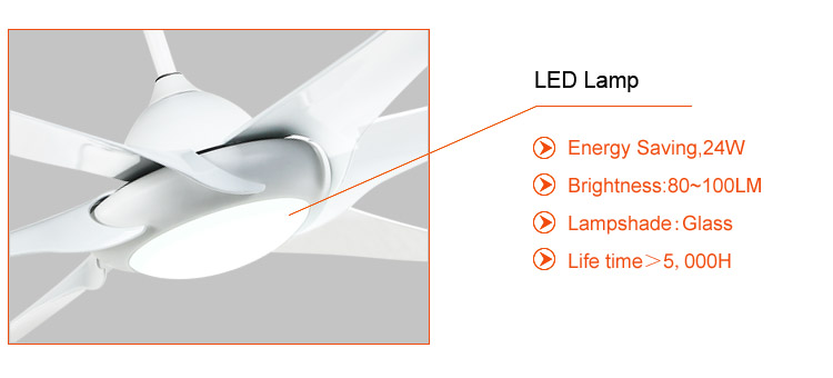 large dc ceiilng fans with led light and remote