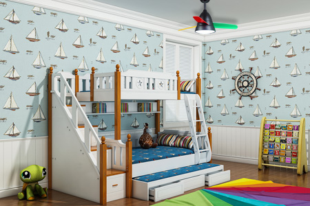installation children room ceiling fan light