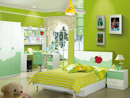 Ceiling fan lamps installed in children's rooms