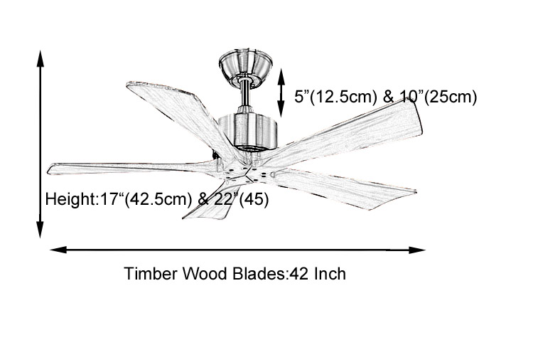 modern natural wood bedroom ceiling fan without light