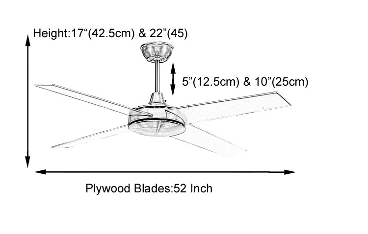 modern black ceiling fans no light