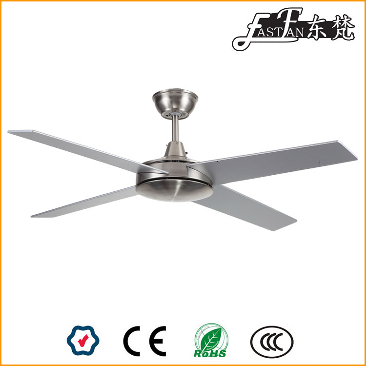 nickel ceiling fan with light