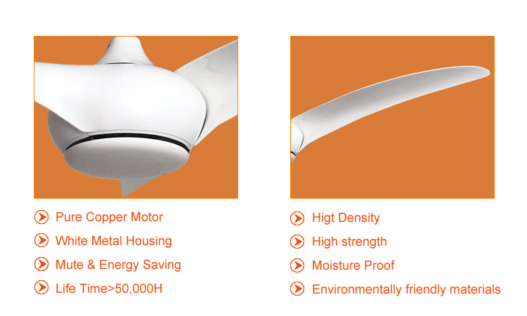 white home ceiling fans