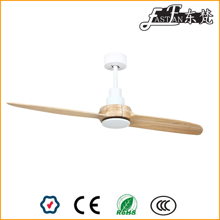 Double leaf solid wood ceiling fan