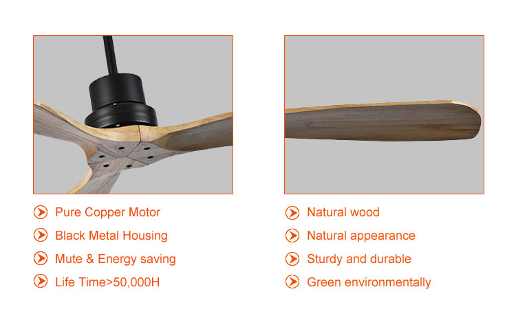 modern timber wood ceiling fans