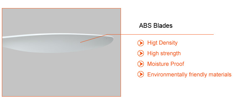 52 inch ABS blades modern white ceiling fans