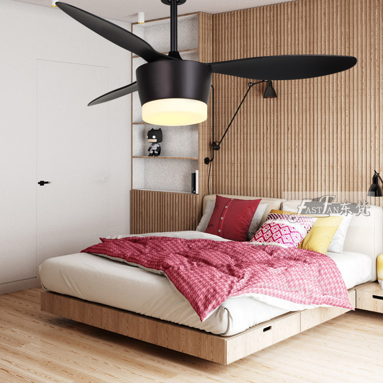 . Proud EF52142 52 black ceiling fan with light and remote   Ceiling Fan