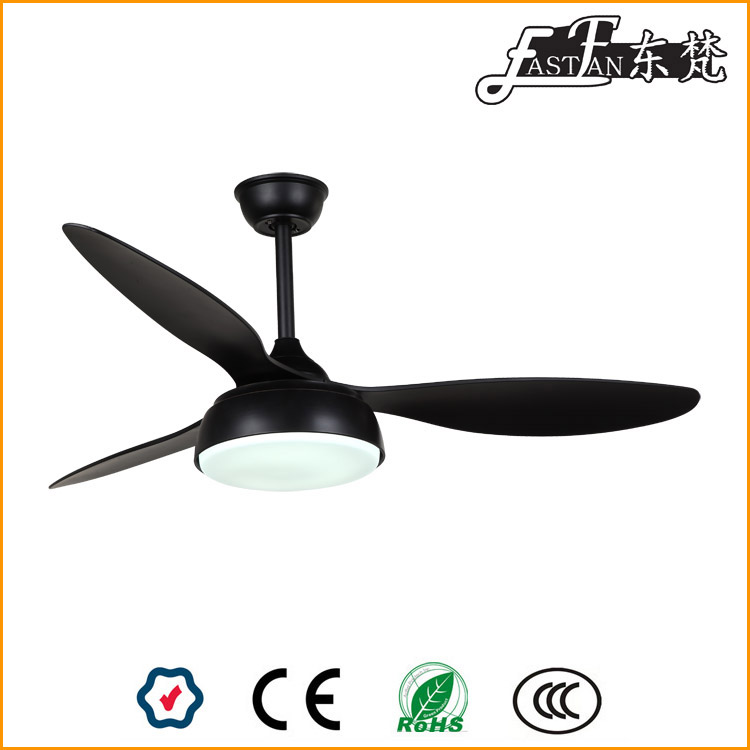 modern black ceiling fan with light