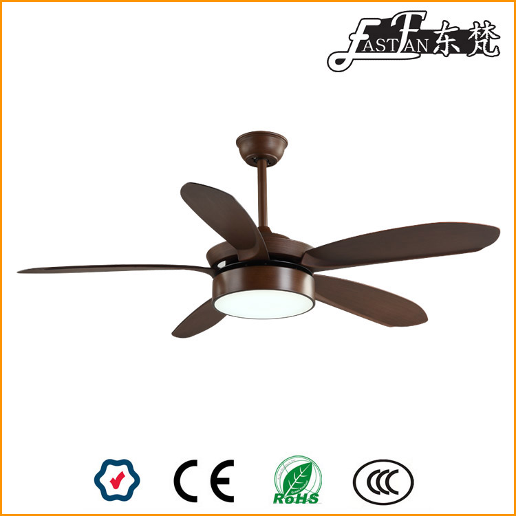 52inch wood ceiling fan with five blades