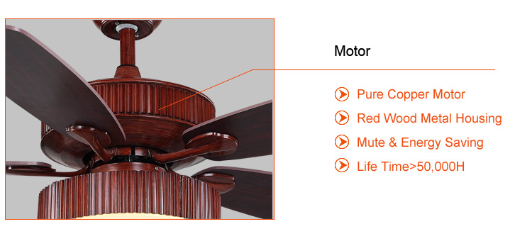 Energy saving copper Motor Remote Control Ceiling Fan