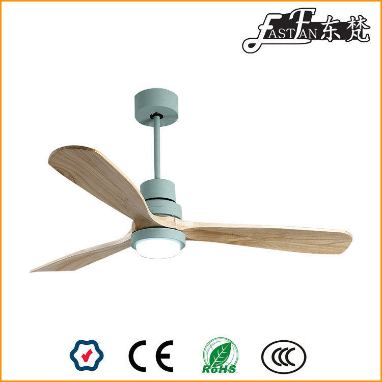 timber ceiling fan with light