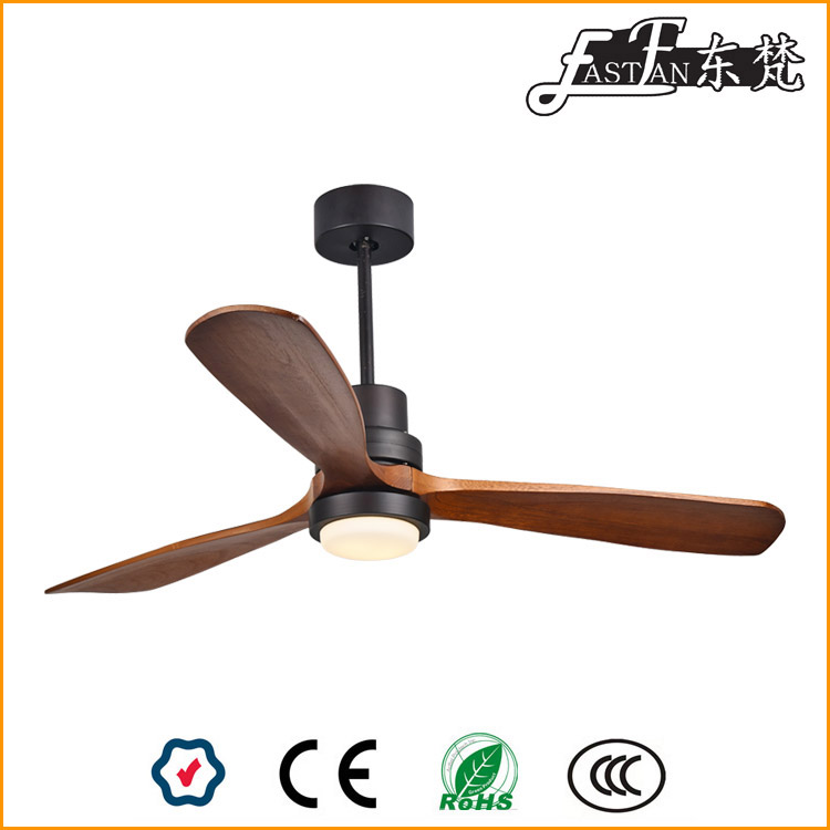 natural wood ceiling fan light
