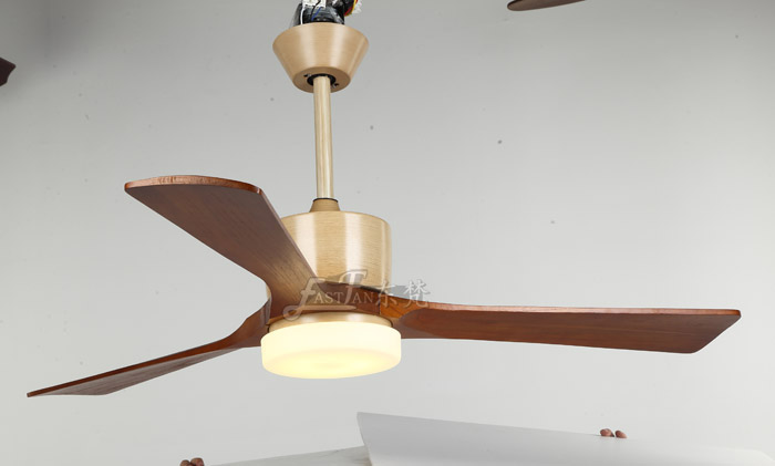 52in natural wood ceiling fan with light