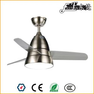 small brushed nickel ceiling fan with light