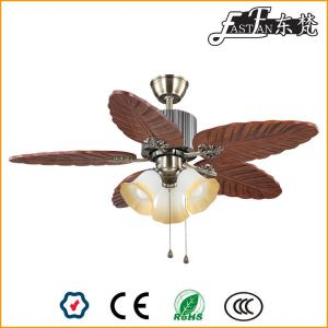 46 inch natural wood rural ceiling fan 3 lights