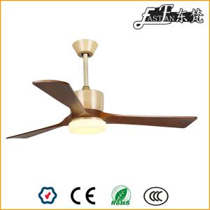 contemporary timber blade ceiling fan with light