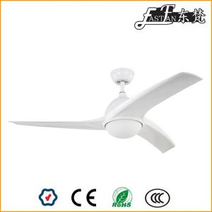52 inch white modern ceiling fan with led light,