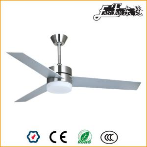 52 inch Nickel bedroom ceiling fans with lights