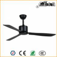 52 inch black modern metal ceiling fan without light