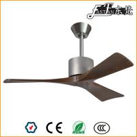 modern living room natural wood ceiling fan