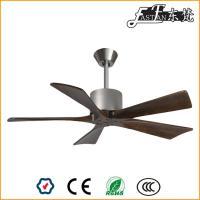 Ventilateur de plafond à 5 pales en bois naturel, pas de lumière,