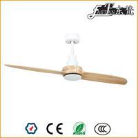 Ventilateurs de plafond à 2 pales en bois naturel