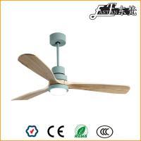 Luces de ventilador de techo de madera natural de 52 pulgadas